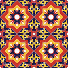 Pattern In Spanish Delectable Spanish Tile Pattern Vector Seamless With Flowers Motifs Azulejo