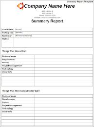 Best Photos Of Summary Report Template Meeting Summary