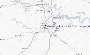 Petersburg Appomattox River James River Virginia Tide