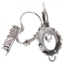 wrap earring base f oval 10x8