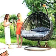 outsunny patio furniture hanging swing chair outdoor great joy 2 seat wicker hanging swing chair patio