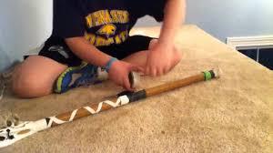 Lacrosse Shaft Tape Designs Lacrosse Taping Criss Cross Youtube