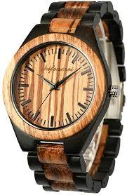 Wooden Men Watches, shifenmei Natural Handmade ... - Amazon.com