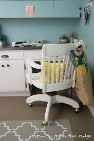 maggie mommy shared office playroom. Gray Swivel Office Chair 75 Vintage Wooden. Wooden Desk Without Had Small Pillow Form Maggie Mommy Shared Playroom W