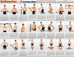 Original Bullworker Exercise Chart Bullworker Gym Workouts Isometric Exercises Workout Programs