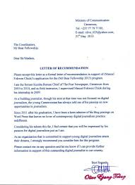 Recommendation Letter Fellowship Magdalene Project Org