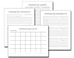 Thanksgiving Menu Planner Printable Template Free Castillofamily Co