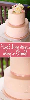 How To Use Stencils To Perfecly Decorate A Fondant Cake With Royal