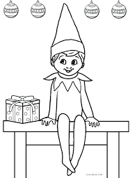 elf colouring in free printable elf on the shelf coloring sheets free printable elf coloring pages