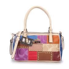Latest Coach Holiday Matching Stud Medium Ivory Multi Luggage Bags Ecb Sale  uVvF2