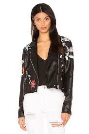 blanknyc embroidered faux leather jacket secret keeper women blanknyc jeans