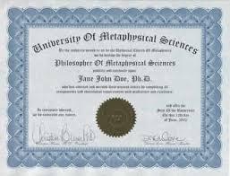 Calvin Klein Doctorate Degree Certificate