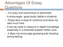 essay type test 18 advantages of essay