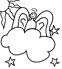 Small Picture Angel clipart coloring page Pencil and in color angel clipart
