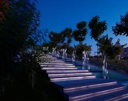 cool outdoor stair lighting