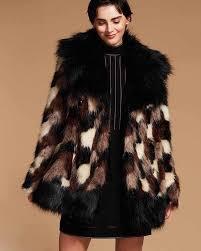 marc jacobs patchwork faux fur coat