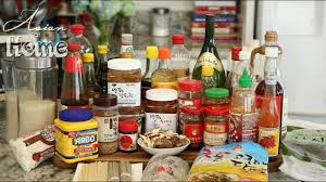 Basic pantry for asian cooking