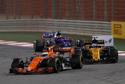 2018 mclaren renault. perfect 2018 fernando alonso mclaren mcl32 leads jolyon palmer renault sport f1 team  rs17 inside 2018 mclaren renault