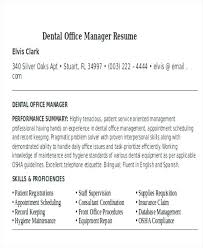 Examples Of Office Manager Resumes Front Office Executive Resume