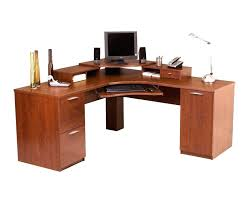 tempered glass office desk. Glass And Wood Computer Desk Tempered Office Large Size Of