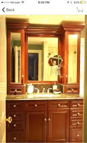 countertop vanity tower on sides of towers