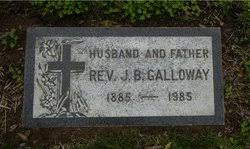 """Rev. John Burritt """"Burt"""" Galloway (1885-1985) - Find A Grave Memorial"""