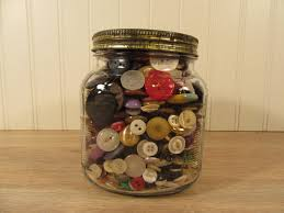 Large Decorative Glass Jars With Lids Large glass jar with lid filled with vintage buttons sewing 62