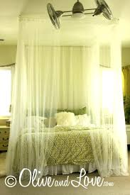 Black Canopy Bed Curtains Sheer Bed Curtains Ceiling Mounted Bed ...