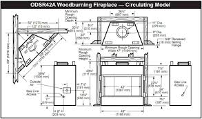 monessen odsr42a al fresco series 42 inch outdoor wood burning inside outdoor fireplace dimensions
