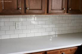 white subway tile kitchen backsplash grout color
