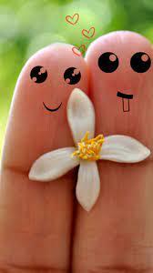 Cute Love Cartoon Couple Fingers iPhone ...