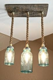 nautical rope chandelier mason jar lights diy
