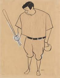 seven babe ruth facts from the national portrait gallery exhibit  babe ruth by william auerbach levy gouache graphite and ink on paper c 1929 national portrait gallery smithsonian institution
