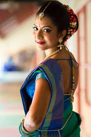 south indian bridal makeup for a beautiful pea bride