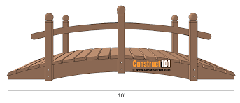 arched garden bridge plans landscape