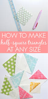 Half Square Triangle Cutting Chart Hst Tutorial And Maths Formula Blossom Heart Quilts