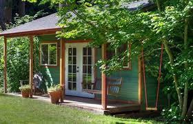 Green Garden Cottage Backyard Workshop Ideas