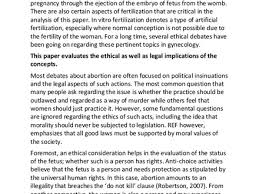 argumentative essay about abortion examples of argumentative sample essay on ethical and legal considerations of abortion