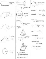 geometric solids formulas reference sheet free geometry formula iappsofts com