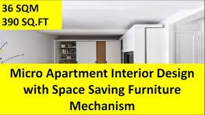 space saving apartment furniture. Micro Apartment Interior Design With Space Saving Furniture Mechanism - YouTube