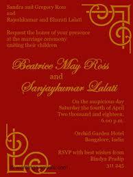hindu wedding invitations indian wedding invitation wording sles wordings and