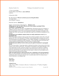 Resume Cover Letter Unsolicited Sample Internship Cover Letters