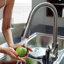 Retractable Kitchen Faucet Aliexpresscom Buy Brass Sink Mixer Hot And Cold Water Tap Pull