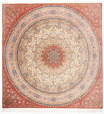 handmade persian rugs from qum tabriz and nain square pure silk qum gombad persian