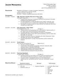 Resume Sample For Quality Assurance Sugarflesh