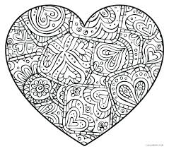 Coloring Pages Of A Heart Mothers Day Hearts Coloring Pages Heart