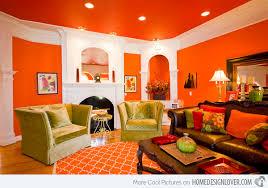 Plush Orange Living Room Design 15 Close To Fruity Designs On Home Ideas.