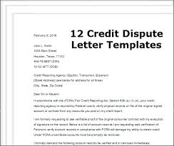 credit dispute letter template best template examples intended for credit dispute letter template