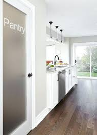frosted pantry door frosted glass pantry door next to peninsula frosted pantry doors for