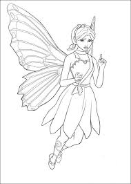Barbie Mariposa Coloring Pages Fairy Princess Movie 6 Free